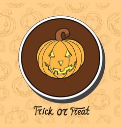 pumpkin on halloween background vector image vector image