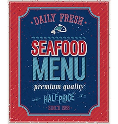 seafood2 vector image vector image