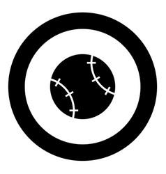 baseball ball icon black color in circle vector image
