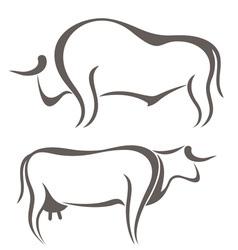 Bull Cow Farm Animal vector image