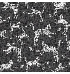 cat mosaic pattern vector image vector image