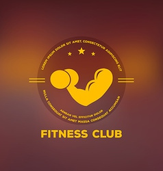 Logo for fitness club vector image vector image