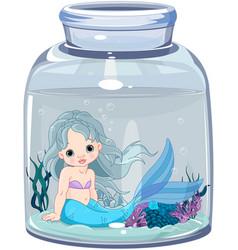 mermaid in the jar vector image vector image