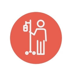 Patient thin line icon vector image vector image