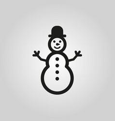 snowman icon new year and xmas christmas winter vector image