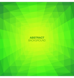 Abstract Green Geometric Tunnel Background vector image vector image