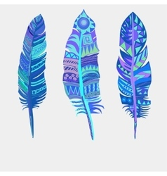 Bright colored feathers Tribal Ethnic vector image vector image