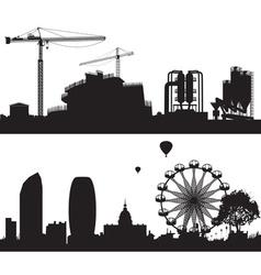 Constructiob Site and City Landscape vector image