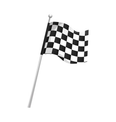 flag checkered race vector image