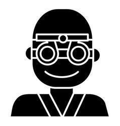 oculist - ophthalmologist - eye doctor icon vector image