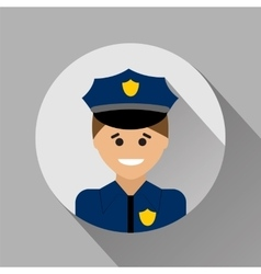 Policeman flat style icon vector image
