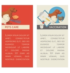 Set of vertical banners Pet care Vet clinic vector image vector image