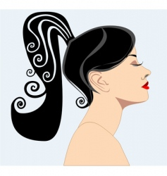 silhouette of a women vector image vector image