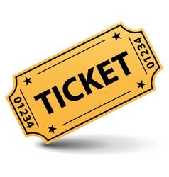 Yellow ticket vector image vector image