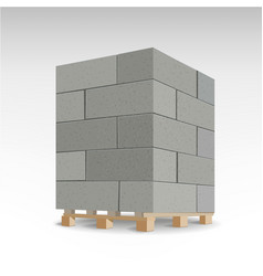 aerated autoclaved concrete block isolated foam vector image