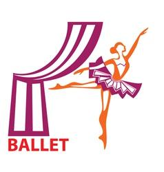 ballet sign vector image vector image