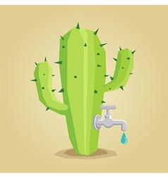 Cactus Faucet vector image