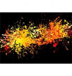 ink crash hot vector image