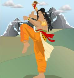 Shiva the destroyer vector image vector image