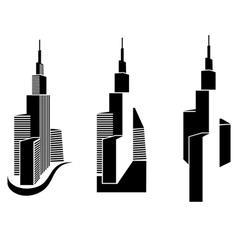 skyscrapers vector image vector image
