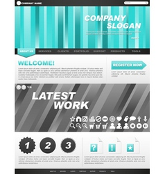 template for company website vector image vector image