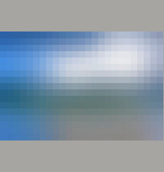 White blue shades mosaic square tiles background vector