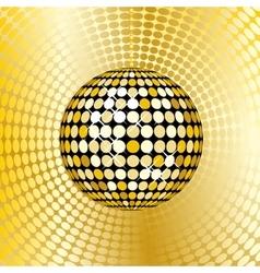 Abstract gold disco ball vector