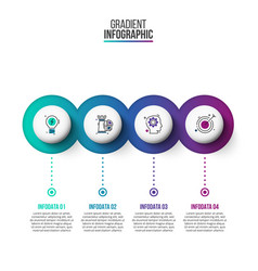 Abstract gradientdiagram with 4 steps vector