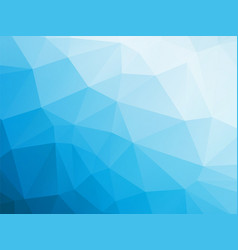 abstract triangular blue white winter background vector image