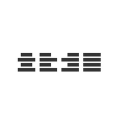 Align icon design template isolated vector