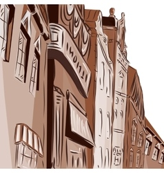 Background the city of chocolate color vector
