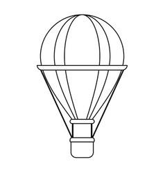 Ballon silhouette vector