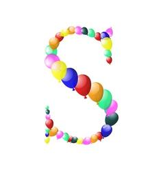 Balloon alphabets letter vector