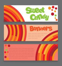 Banners a lollipop vector