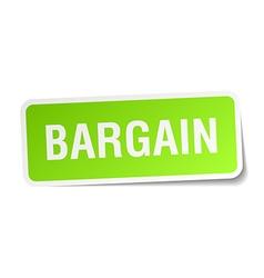 Bargain green square sticker on white background vector