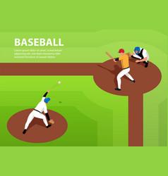 baseball horizontal vector image