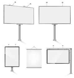 bill board set vector image