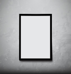 Black frame with concrete wall vector