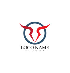 Bull logo template icon vector
