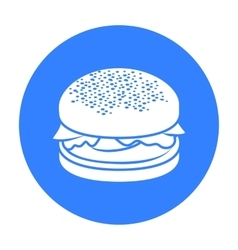 Burger icon in black style for web vector