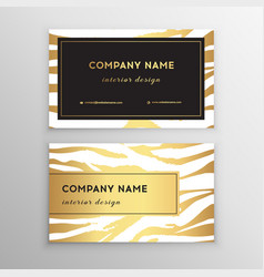 business card trendy zebra and tiger pattern wild vector image