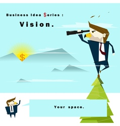 Business Idea series Vision vector