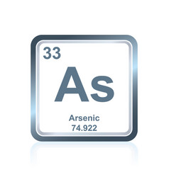 chemical element arsenic from the periodic table vector image