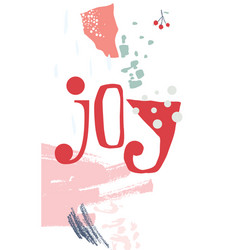 christmas greeting card modern style vector image