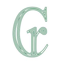 Cruzeiro brazil currency symbol icon striped vector