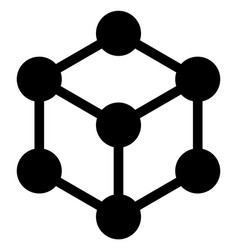 Cube nodes icon vector