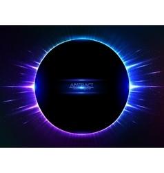 Dark blue shining cosmic ring vector image