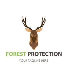 deer head logo silhouette animal design icon wild vector image