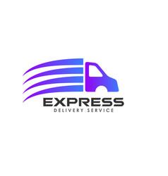 delivery services logo design cargo logo design vector image