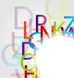Design element with colorful alphabets vector image